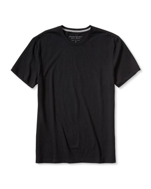 Banana Republic | Black Soft-wash Classic Crew for Men | Lyst