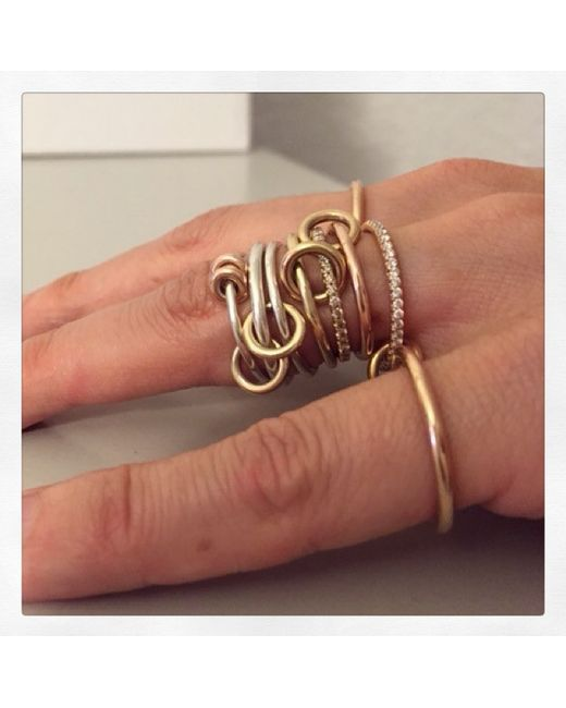 Spinelli Kilcollin | Metallic Raneth Gold and Pavé Diamond Ring | Lyst