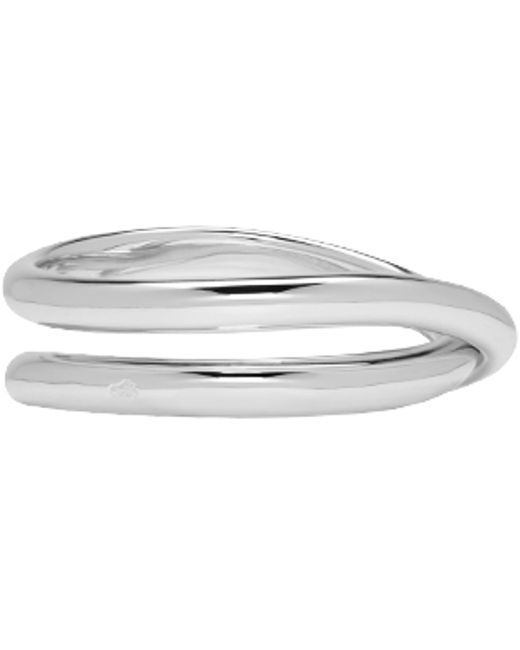 Maison Margiela | Metallic White Gold Twisted Ring | Lyst