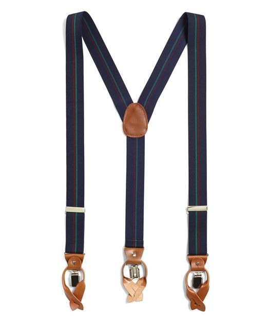 Brooks Brothers | Blue Double Stripe Suspenders for Men | Lyst