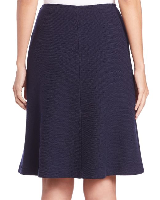st flared boucle knit skirt in blue lyst