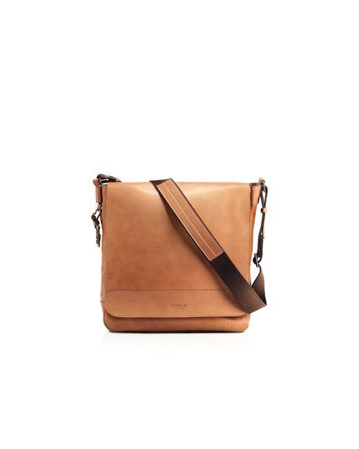 Shinola | Brown Essex Leather Messenger Bag | Lyst