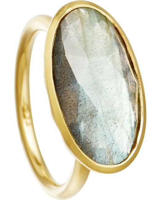 Astley Clarke | Gray Labradorite 18Ct Gold Vermeil Cocktail Ring - For Women | Lyst
