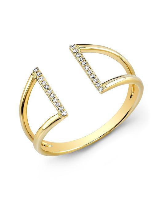 Anne Sisteron - Metallic 14kt Yellow Gold Diamond Space Ring - Lyst