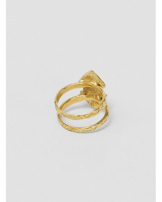Odette New York | Metallic Double Arrowhead Ring Brass | Lyst