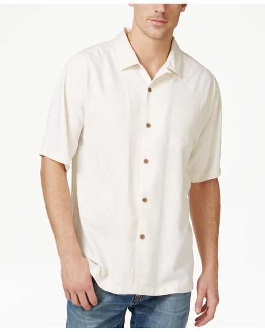 Tommy bahama men 39 s tiki palms silk short sleeve shirt a for Where to buy tommy bahama shirts