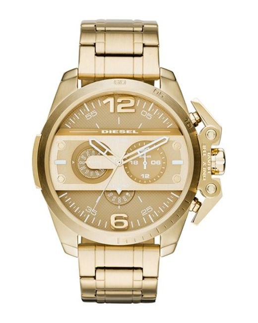 diesel ironside chronograph bracelet in gold for