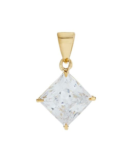 Carat* | Metallic 1ct Princess Pendant | Lyst