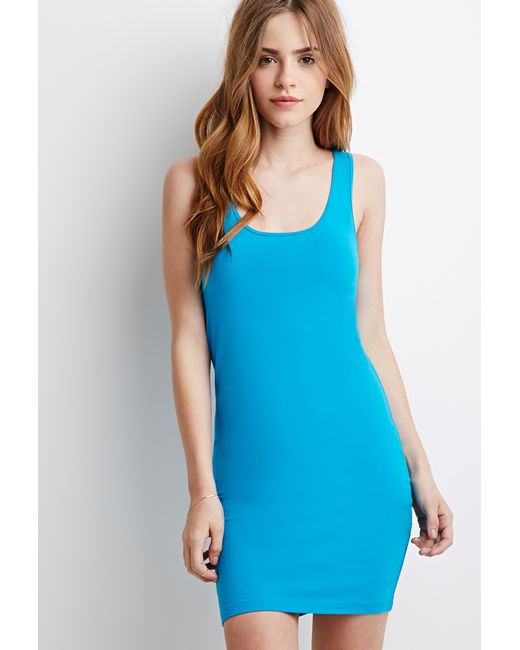 Forever 21 | Blue Stretch-knit Bodycon Dress | Lyst