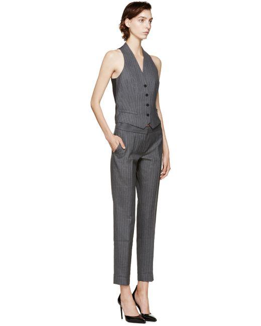 Pallas | Gray Grey Pinstripe Trousers | Lyst