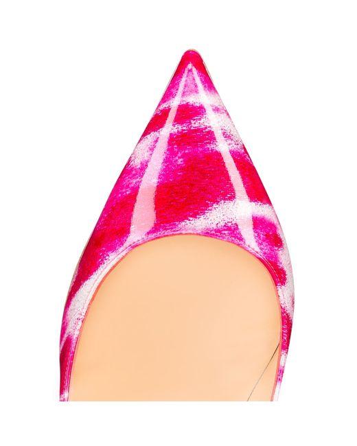christian louis vuitton shoes sale - Christian louboutin Pigalle Follies Glitter Tie-Dye Patent Pumps ...