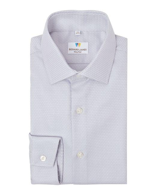 Richard James | Gray Austin Plain Diamond Dobby Shirt for Men | Lyst