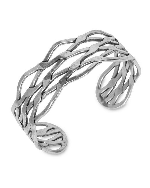 Lucky Brand | Metallic Silvertone Twisted Cuff Bracelet | Lyst