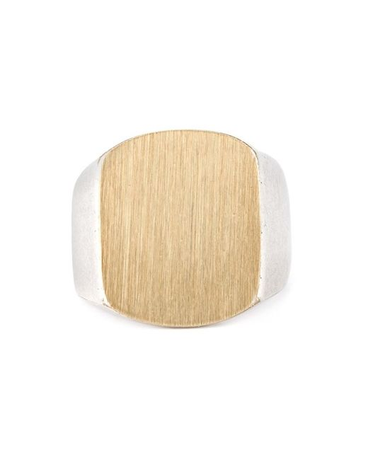Maison Margiela | Metallic Chunky Signet Ring for Men | Lyst