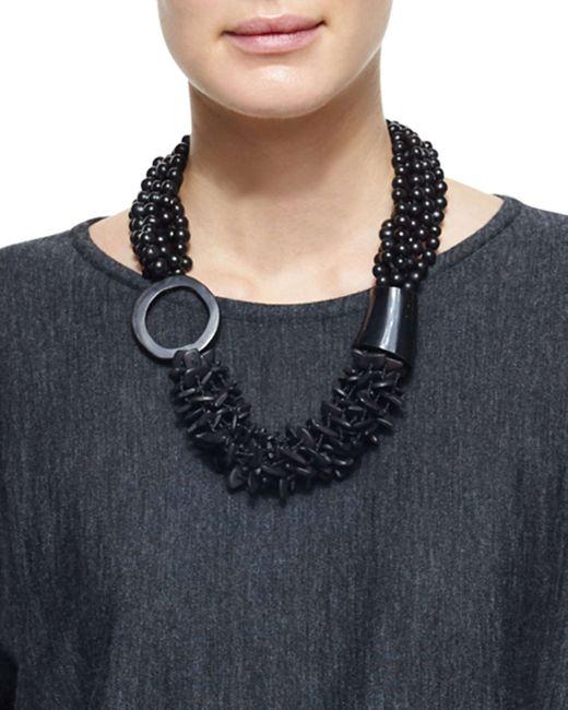 Eskandar | Black Multi-strand Mixed Beaded Necklace | Lyst