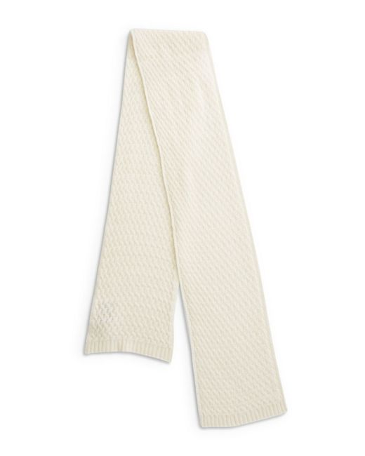 Lord & Taylor | White Cashmere Knit Scarf | Lyst