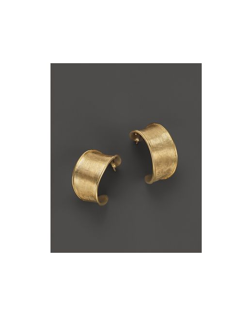 Marco Bicego | Metallic 18k Yellow Gold Lunaria Hoop Earrings | Lyst