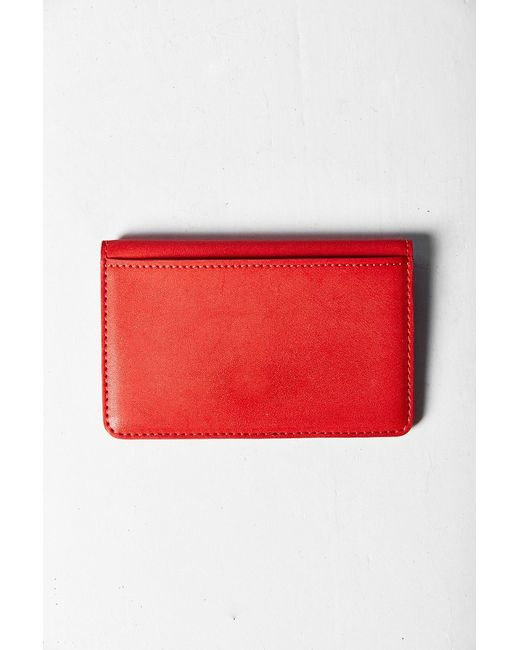 Urban Outfitters | Red Simple Cardholder Wallet | Lyst
