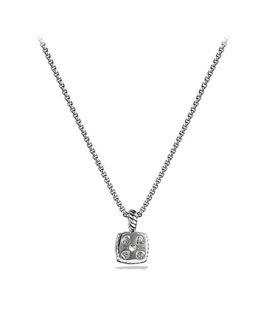 David Yurman | Petite Albion Pendant Necklace With White Topaz And Diamonds | Lyst