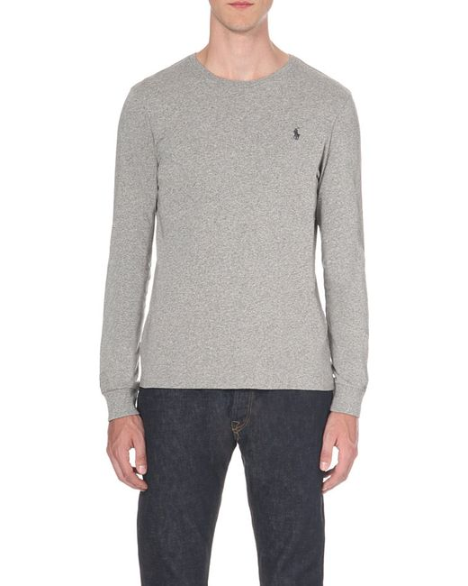 Polo Ralph Lauren | Gray Custom-fit Cotton-jersey Top for Men | Lyst