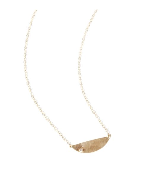 Melissa Joy Manning | Metallic Half Circle Gold And Diamond Pendant Necklace | Lyst