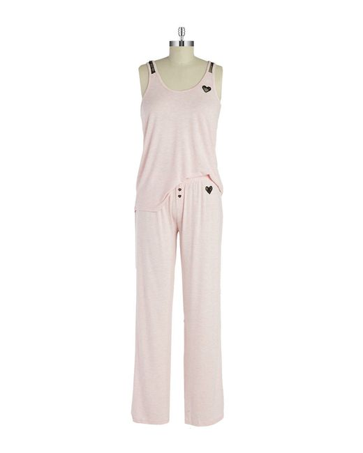 Betsey Johnson | Pink Knit Pajama Set | Lyst