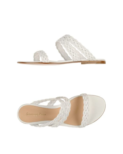 Gianvito Rossi   White Braided Leather Sandals   Lyst