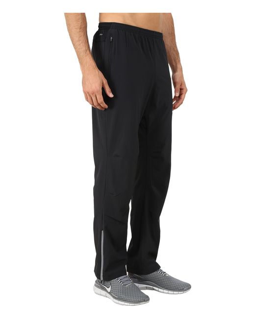 Nike Dri Fit Stretch Woven Running Pant In Black For Men