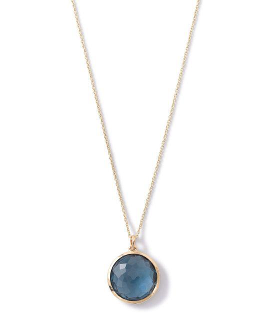 Ippolita | Blue 18k Lollipop Medium Round Pendant Necklace | Lyst