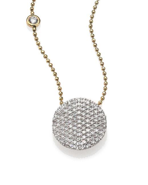 Phillips House | Metallic Affair Diamond & 14k Yellow Gold Infinity Bezel-accent Necklace | Lyst