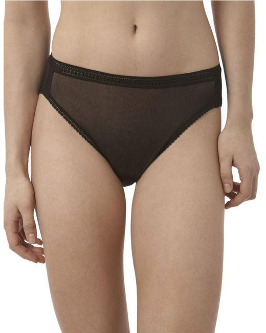 On Gossamer | Black High-cut Mesh Brief | Lyst
