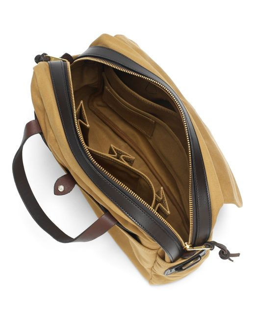 Brooks Brothers | Brown Filson® Twill Computer Briefcase Bag for Men | Lyst