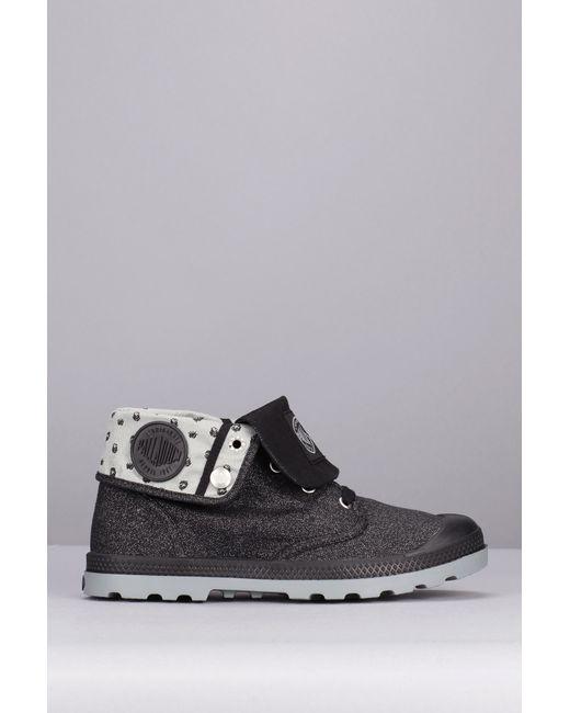 palladium boots in black lyst