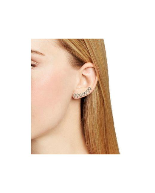 BaubleBar | Metallic Pavé Droplet Ear Climbers | Lyst