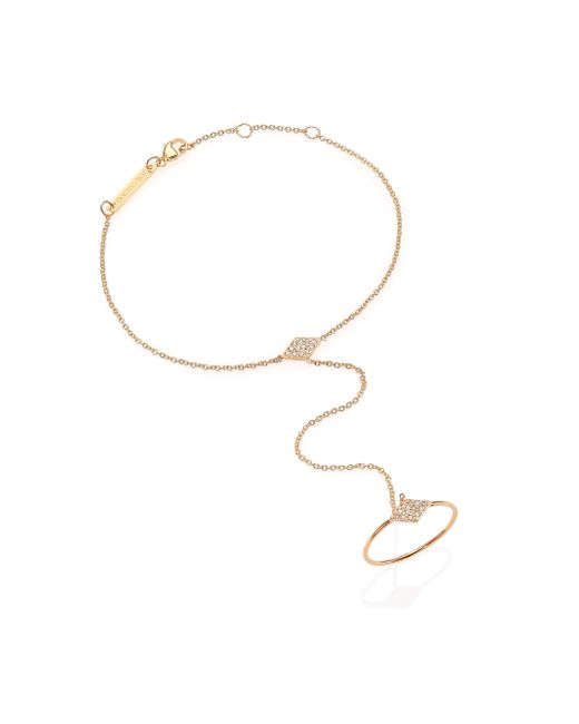 Zoe Chicco | Metallic Diamond & 14k Yellow Gold Kite Hand Chain | Lyst