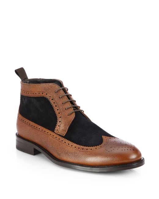 To Boot | Brown Edwards Shearling-lined Leather Boots for Men | Lyst