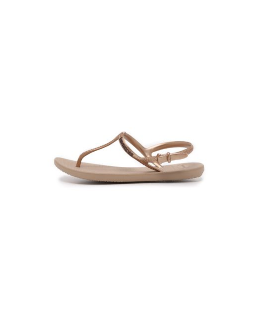 Havaianas | Pink Freedom T Strap Sandals | Lyst