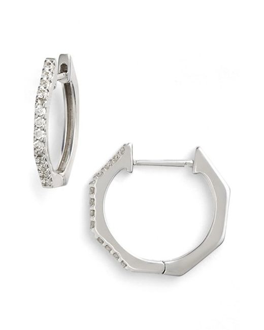 Bony Levy | Metallic Diamond Geometric Hoop Earrings (limited Edition) (nordstrom Exclusive) | Lyst