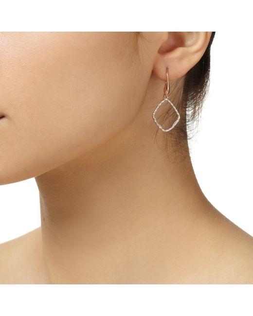 Monica Vinader   Metallic Riva Diamond Hoop Earrings   Lyst