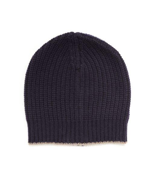 Brunello Cucinelli | Black Cashmere Ribbed Hat for Men | Lyst