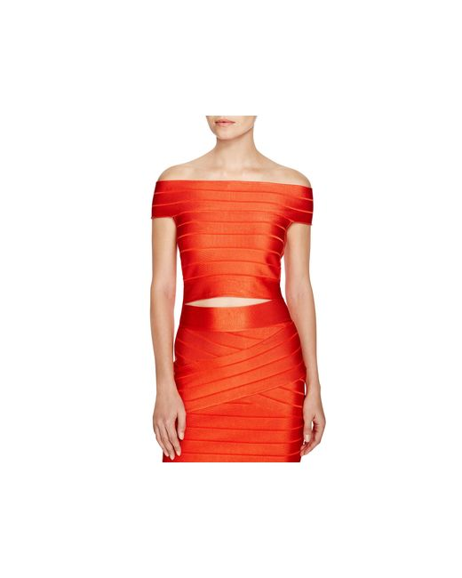 French Connection | Red Spotlight Bandage Top - 100% Bloomingdale's Exclusive | Lyst