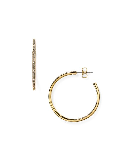 Nadri | Metallic Pave Hoop Earrings | Lyst