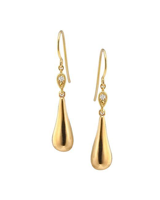 Catherine Zoraida | Metallic Raindrop Earrings Gold | Lyst