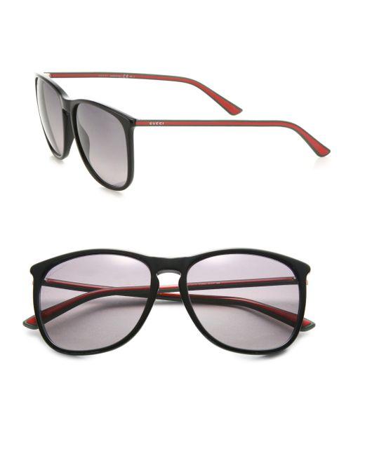 Gucci | Black 57mm Square Sunglasses | Lyst