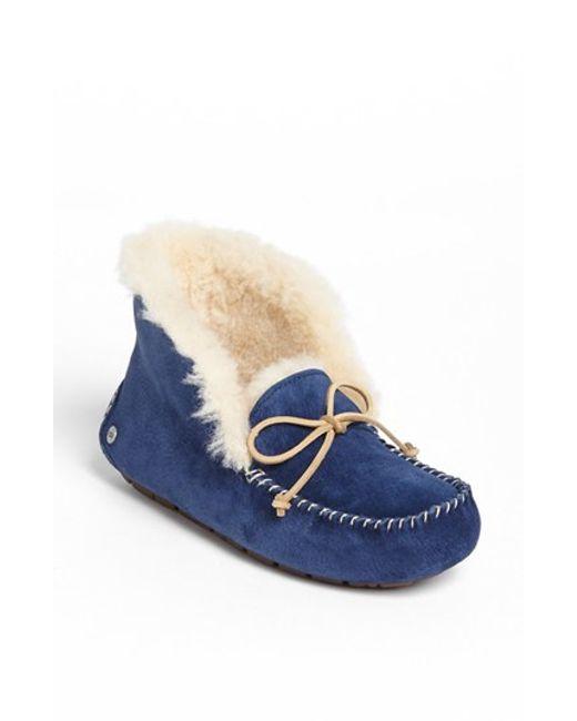 UGG | Blue Ugg 'uggpure(tm) Alena' Suede Slipper Bootie | Lyst