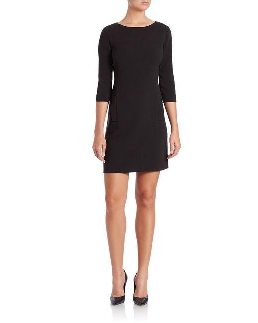 Eliza J | Black Plus Three-quarter Sleeve Sheath Dress | Lyst