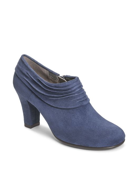 Aerosoles | Blue Starring Role Suede Booties | Lyst