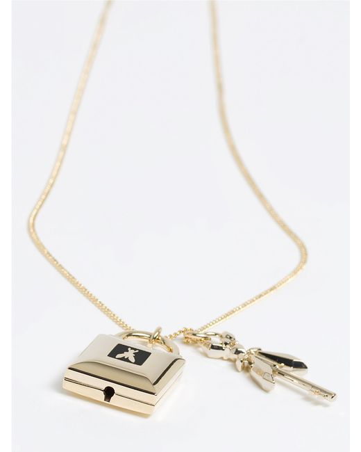 Patrizia Pepe | Metallic Costume Jewelry Necklace With Enamel | Lyst