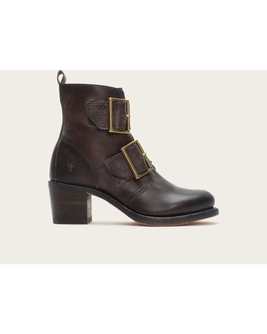 Frye | Brown Sabrina Double Buckle | Lyst