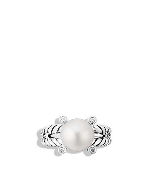 David Yurman | White Pearl Cable Cup Ring Pe Di Sil | Lyst